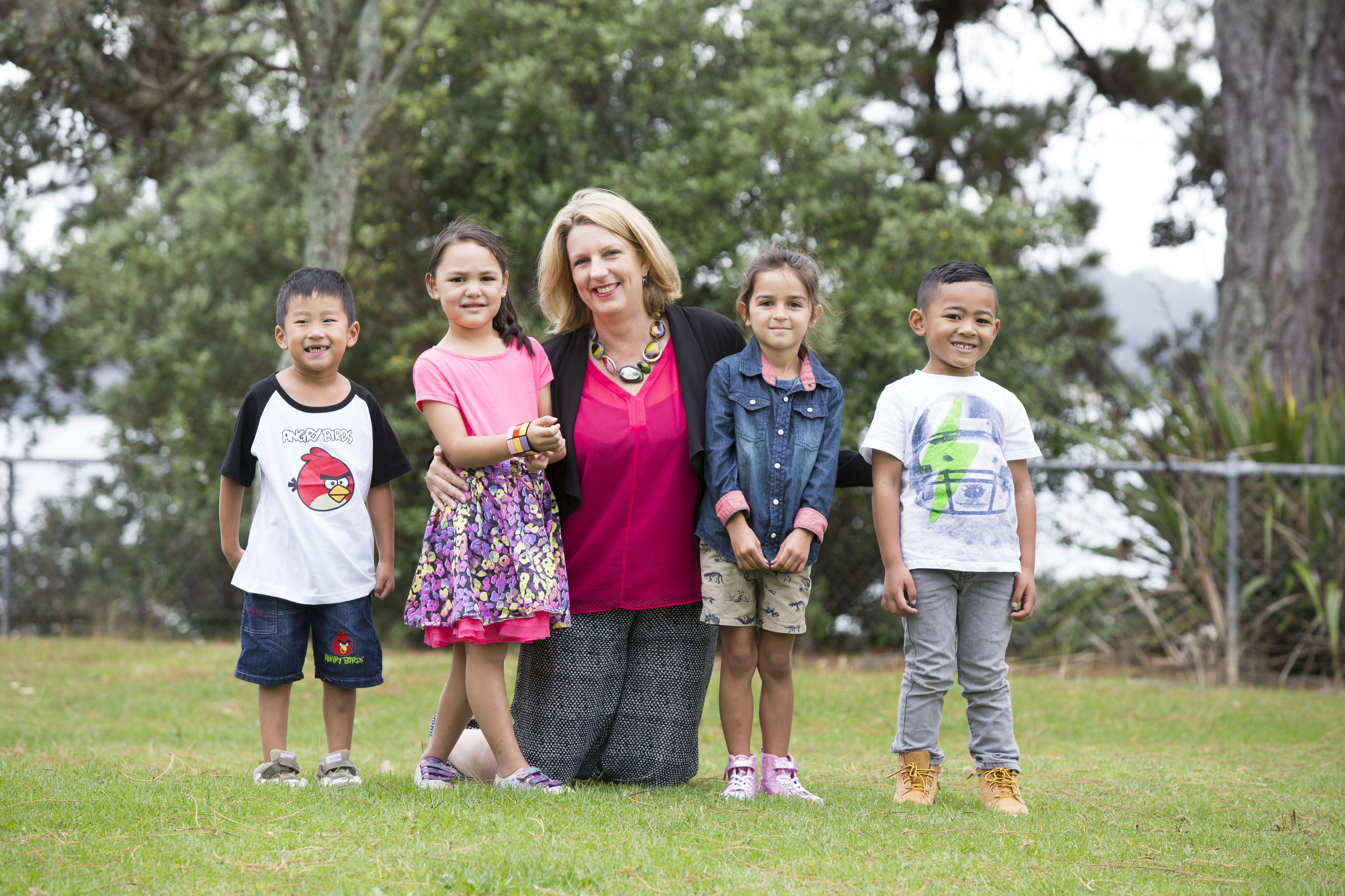 Professor Susan Morton and children